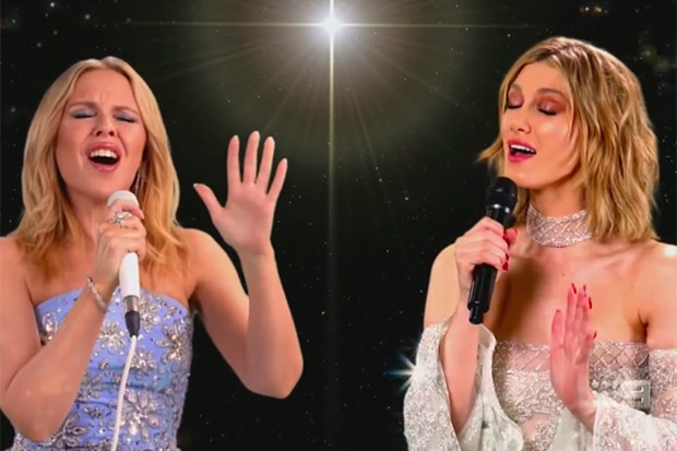 "Kylie Minogue & Delta Goodrem Perform ""When You Wish Upon A Star"""