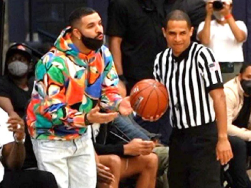 Drake + Chief Keef In The Crowd For LeBron James Jr.'s HS Game
