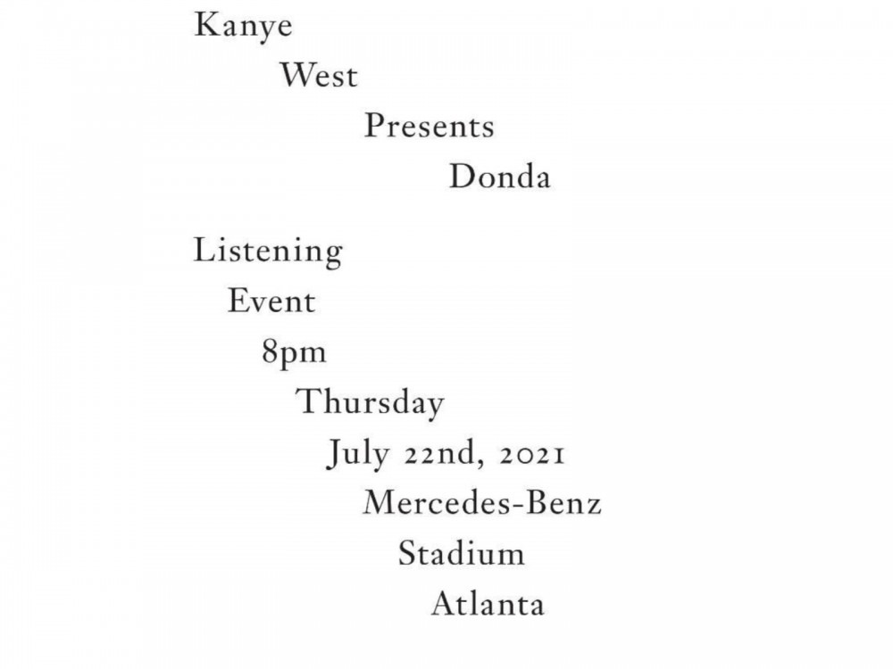 Kanye West's 'Donda' Album Listening Party Tickets Go On Sale…NOW