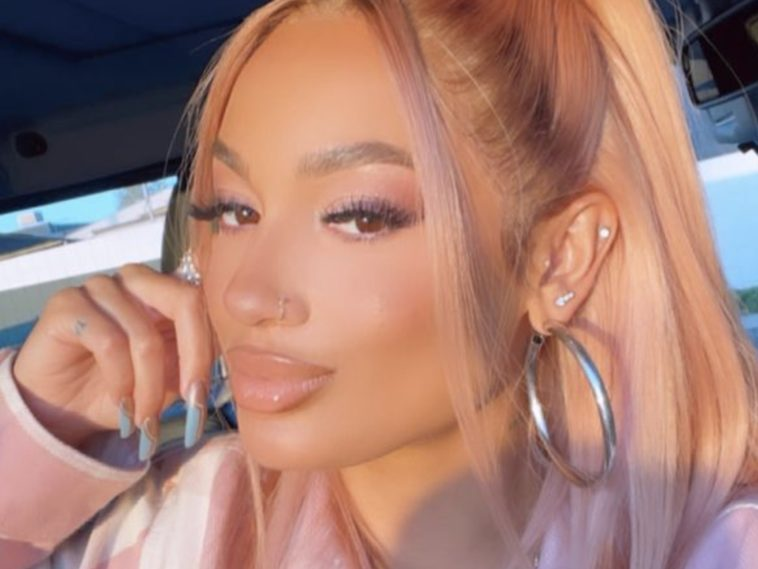 DaniLeigh Looks Completely Unrecognizable W: Pink Hair
