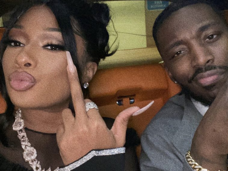 Pardison Fontaine in the car with Megan Thee Stallion
