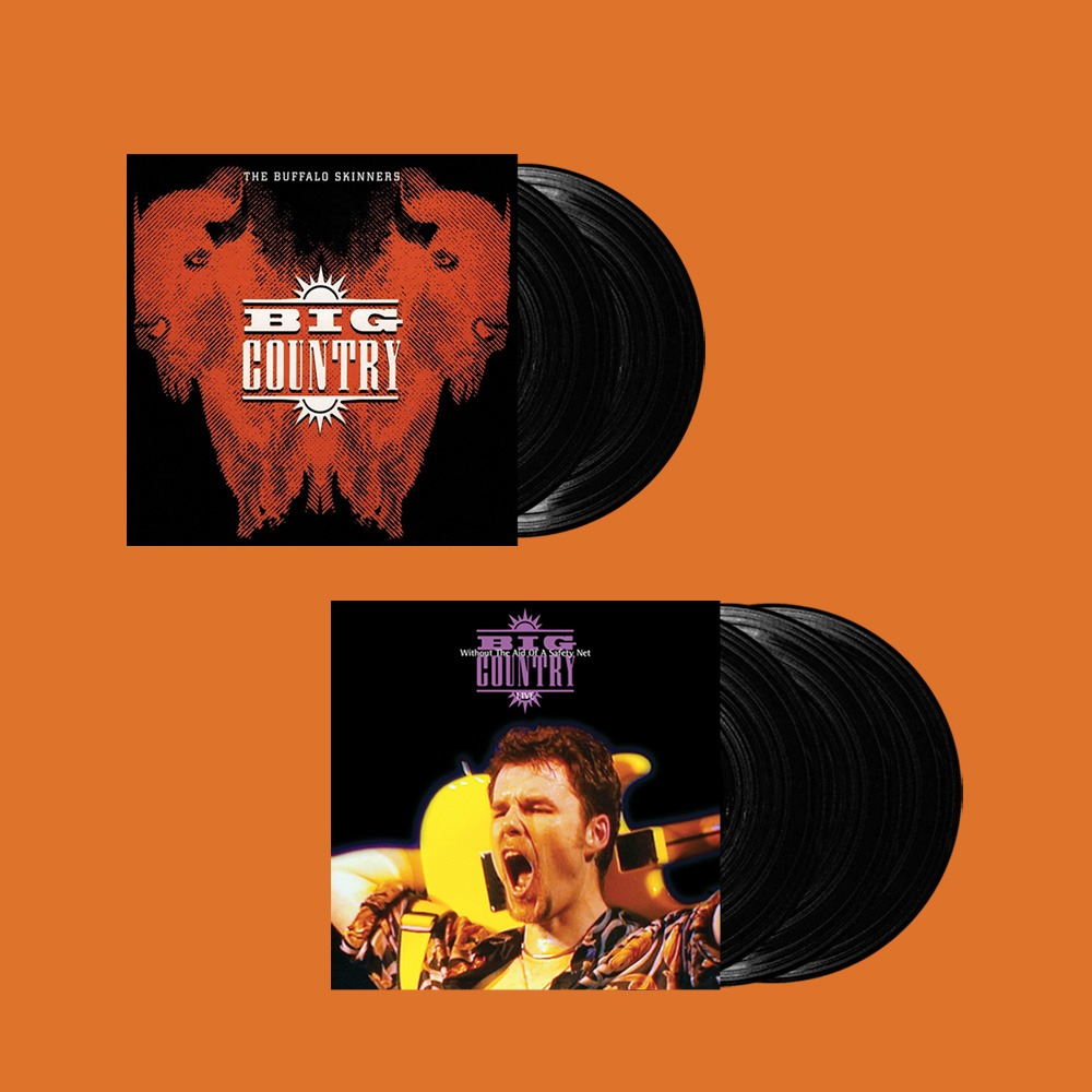 Big Country – The Buffalo Skinners / Without The Aid Of A Safety Net – Live (Vinyl re-issues, Chrysalis)